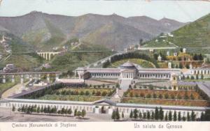 Cimitero Monumentale Di Staglieno, Un Saluto Da Genova, Italy, 1900-1910s