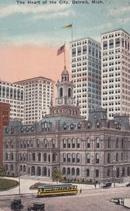 DETROIT, Michigan, PU-1915; The Heart Of The City