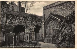 Jewry Hall and Norman Doorway St Nickolas Church Leicester Postcard