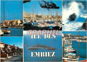 Modern Postcard Island Souvenir Embiez Lumiere Beauty and the Riviera Yacht