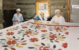 BEDFORD, Pennsylvania, 50-60s; Quilters, Old Bedford Village