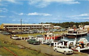 4466  MA, Falmouth 1960's The Falmouth Marina Motel,  Island Queen Ferry
