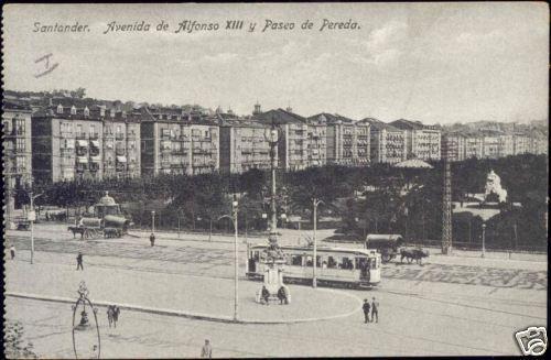 spain SANTANDER Avenida Alfonso XIII, Paseo Pereda TRAM