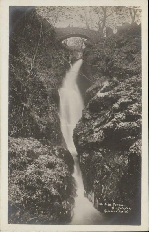 Aira Force Ullswater waterfall Abrahams series real photo