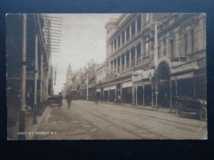 Western Australia PERTH Hay Street shows GEORGE DIBDIN TAILOR STORE Old Postcard
