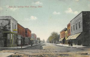 Hotel Convoy OH~Meat Market~Bank Printing Office Upstairs~Chatty Men Corner 1910