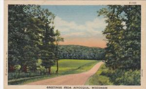 Wisconsin Greetings From Minocqua 1955 Curteich