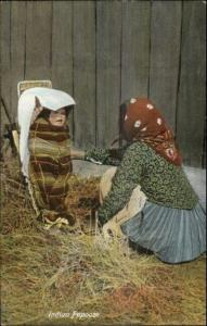 Native Americana Indian Mother 7 Papoose Baby c1910 Postcard