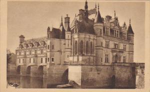 France Chateau du Chenonceaux Cote Nord-Est 1948