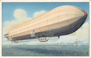 LP75    Aviation  Zeppelin Airship  Vintage Postcard Tuck