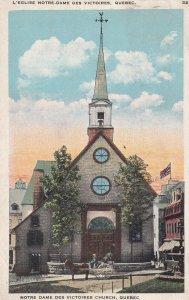 QUEBEC, Canada, PU-1927; Notre Dame Des Victoires Church