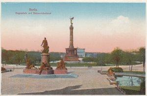 BERLIN, Germany, 1900-10s; Siegessaule und Bismarckdenkmal