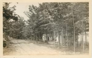 Ontonagon MI 1920s Automotive Tourist Camp~Cabins Real Photo Postcard RPPC