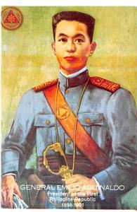 Philippines Old Vintage Antique Post Card General Emilio Aguinaldo Pressident...