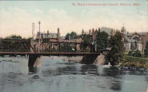 Michigan Monroe St Mary's Academy and Church 1910