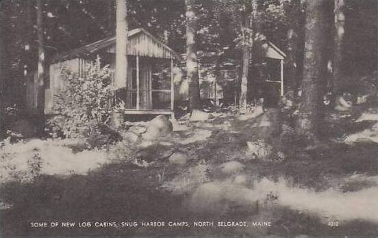 Maine North Belgrade Some Of New Log Cabins Snug Harbor Camps Artvue