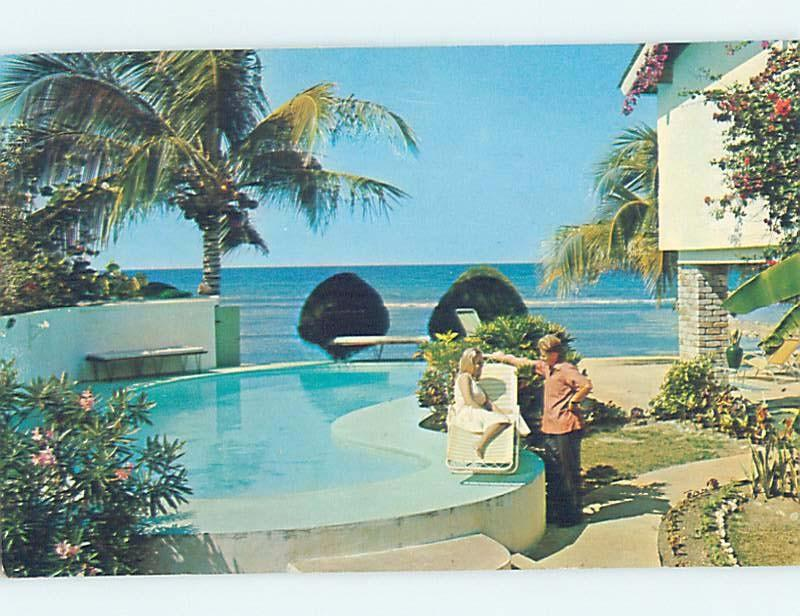 Pre-1980 SWIMMING POOL AT HOTEL Montego Bay Jamaica F6444
