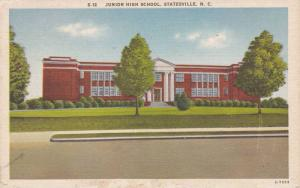 Junior High School, Statesville North Carolina 1930-40s