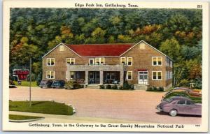 Gatlinburg, Tennessee Postcard EDGE PARK INN Hotel GSMNP Linen 1940s Unused