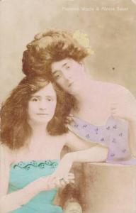 RP; Hand-colored, Actresses Florence Warde & Minnie Baker, PU-1907