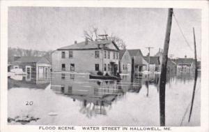 Flood Scene On Nashua River Fitchburg Massachusetts