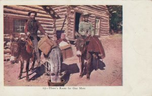 There's Room for One More, Men on Donkeys at water barrel, 1901-07