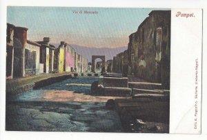 Italy Naples Pompei Pompeii Via di Mercurio Vtg Ragozino Postcard UDB ca 1905
