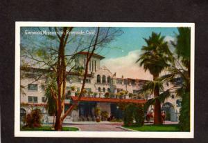 CA Glenwood Mission Inn Hotel Riverside California Postcard Calif