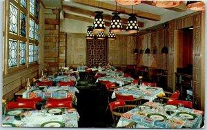 Rockford, IL Postcard HOTEL FAUST Viking Grill Restaurant View c1950s Unused