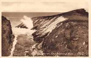Vintage Postcard 1918 PORTH The Blowing Hole by Francis Frith & Co. Ltd No.68661