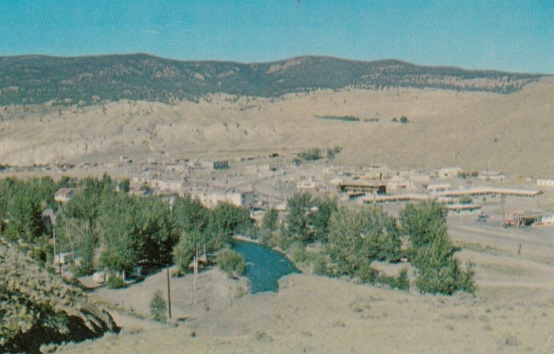 CACHE CREEK , B.C., 50-60s; Overlooking Cache Creek at Important Road Junction