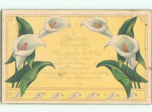 Pre-Linen easter BEAUTIFUL WHITE FLOWERS k2968