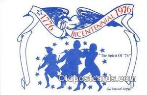 Bicentennial 1776-1976 Spirit of 76, 1776-1976 Patriotic Postcard Post Card S...