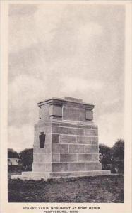 Ohio Pennsylvania Mounment At Fort Meigs-Albertype