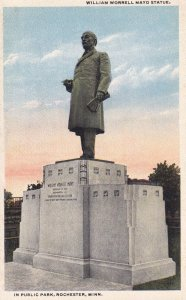 ROCHESTER, Minnesota, 1900-10s; In Public Park, William Worrell Mayo Statue