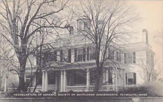 Massachusetts Plymouth Headquarters Of General Society Of Mayflower Descendan...
