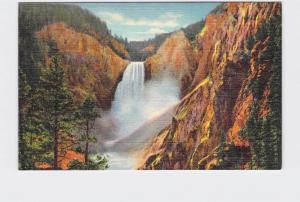 ANTIQUE POSTCARD NATIONAL STATE PARK YELLOWSTONE GREAT FALLS #3