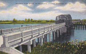 Georgia Savannah River Bridge On The Coastal Highway