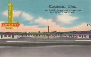 BALTIMORE, MD , 30-40s ; Marylander Motel, U.S. Route #40