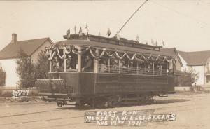 RP: MOOSE JAW , Saskatchewan , Canada , 1911 ; 1st Electric Trolly car run