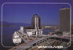 Vancouver's cruise ship dock, alongside the Pan Pacific Hotel & Trade & Conve...