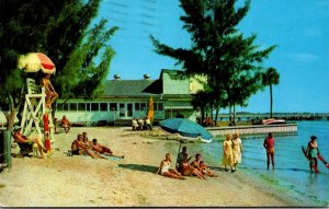 Florida Gulfport On Boca Ciega Bay Showing Casino and Fishing Pier 1959