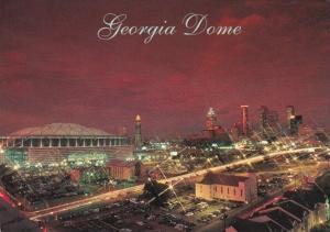 Georgia Atlanta The Georgia Dome Stadium At Night