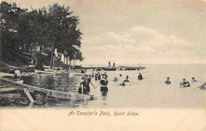LP82 Spirit Lake   Iowa Postcard Templar's Park