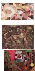 Paul Klee Villa Tomcat The Chapel 3x Painting Postcard s