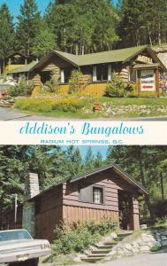 RADIUM HOT SPRINGS , B.C. , Canada , 50-60s ; Addison's Bungalows