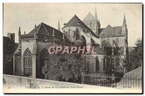 Old Postcard Lisieux L & # 39Abside of Saint Pierre Cathedral