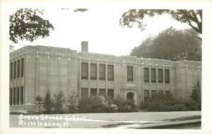 Brattleboro Vermont~Green Street School~Real Photo Postcard c1950