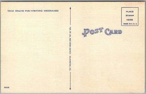 Vintage DOVER, Delaware Large Letter Postcard Multi-View / Linen c1940s Unused