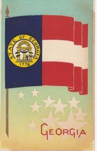 GEORGIA , State Flag , 40-50s ; Serigraph